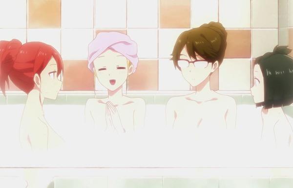 アニメ『多田くんは恋をしない』5話で女の子たちがお風呂に入るエロい入浴シーン!のサムネイル画像