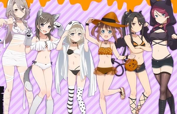 『ハイスクール・フリート』女の子たちのエロい水着ハロウィン衣装のエロイラストグッズ!のサムネイル画像