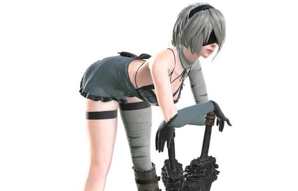 『ニーア オートマタ』おっぱいやお尻丸見えのエロいカイネの衣装などエロい追加DLC!のサムネイル画像