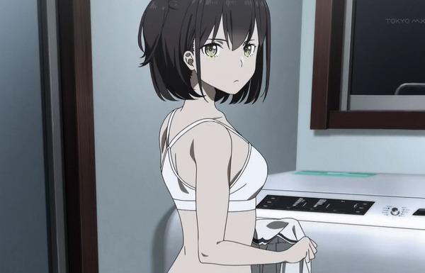 アニメ『究極進化したフルダイブRPGが現実よりもクソゲ—だったら』1話でエロい下着姿や入浴シーンのサムネイル画像