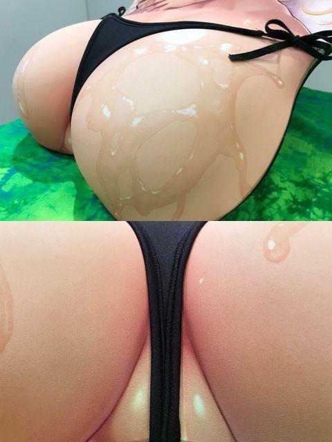 すーぱーぽちゃ子 おしりマウスパッド 紐ビキニ (8)