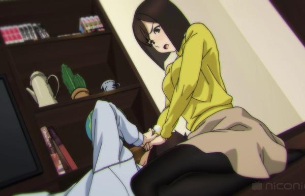 アニメ『みるタイツ』10話でエロい耳かきでお姉ちゃんの太ももに挟まれて勃起しちゃう弟!