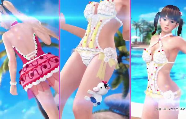 『デッドオアアライブエクストリーム3 スカーレット』水着が破れてエロいことになる新水着!のサムネイル画像