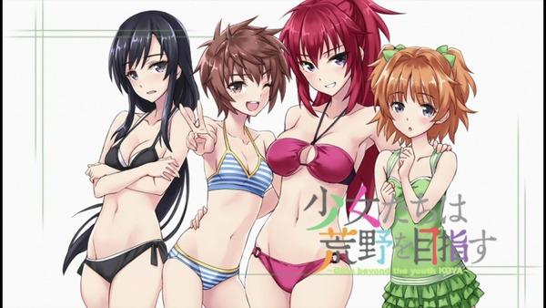 少女たちは荒野を目指す 6話 全裸 水着 (15)