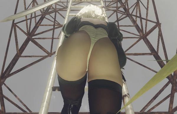 『ニーア オートマタ』女の子のお尻とか太ももとかエロいパンツ丸見えの設定画のサムネイル画像