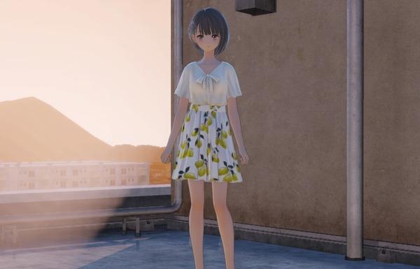 『ブルーリフレクション』DLC衣装で女の子のスカートが消失してパンツが丸見えになるバグのサムネイル画像