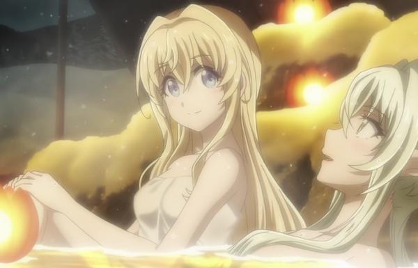 アニメ『ゴブリンスレイヤー』新作エピソードのPVで女の子たちのエロい温泉入浴シーン!