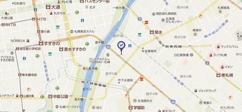 スポット豊平店 地図2
