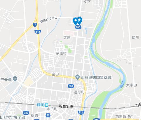 鶴岡市 地図
