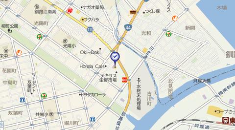 東京書店釧路入江店 地図2
