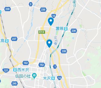 米沢市 地図