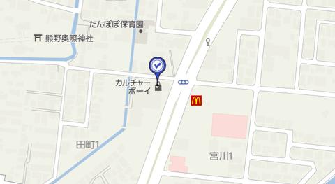 カルチャーボーイ弘前堅田 地図