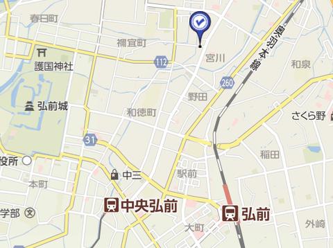 カルチャーボーイ弘前堅田 地図2