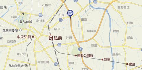 ドリボー城東弘前 地図2