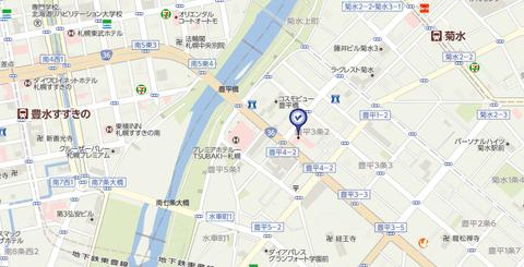 スポット豊平店 地図
