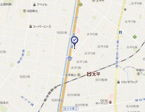 スポット太平店 地図2
