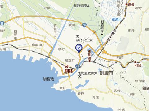 東京書店釧路入江店 地図3