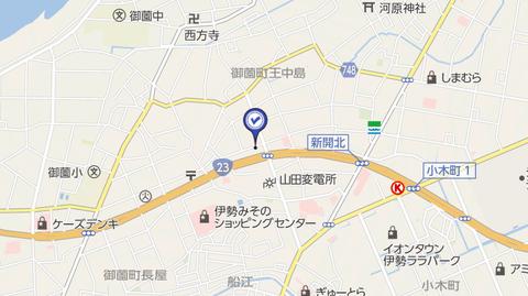 尾張書店伊勢店地図2