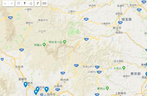 埼玉山梨長野