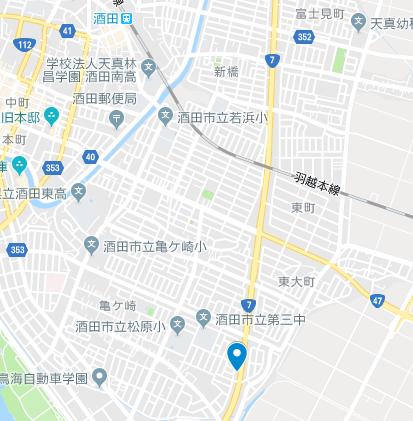 酒田市 地図