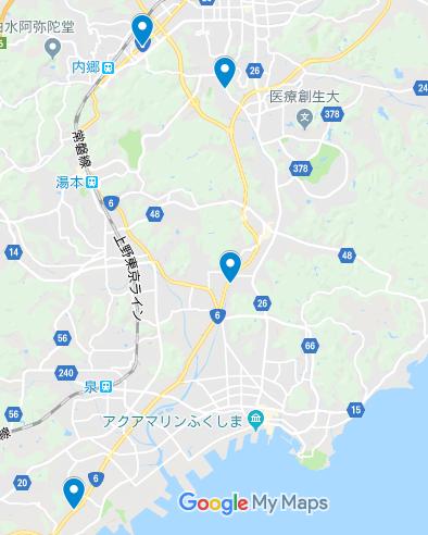 いわき市 地図