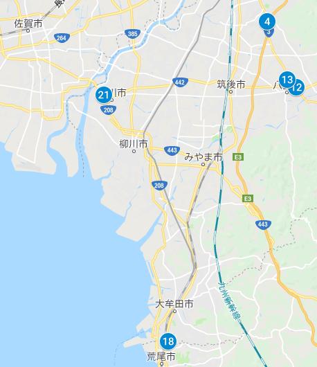 福岡県南側