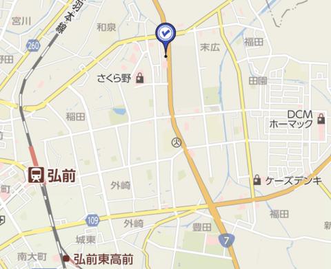 ドリボー弘前城東 地図