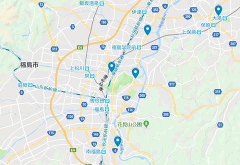 福島市 地図