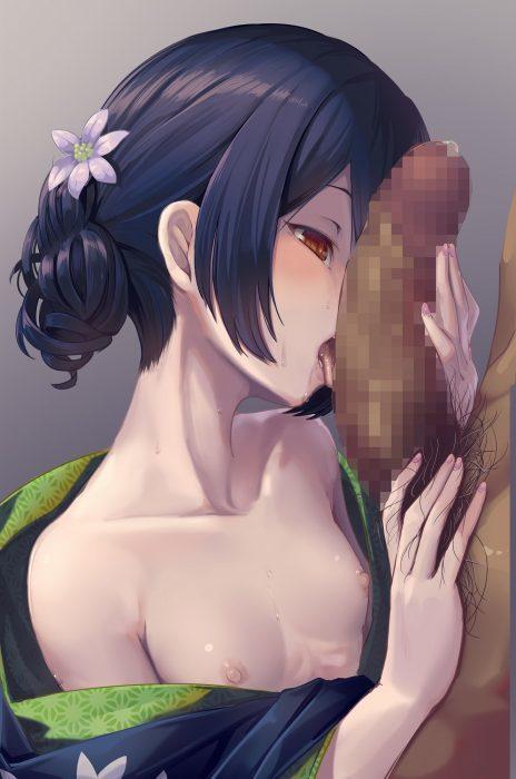 【二次・ZIP】フェラチオご奉仕してくれる虹美少女の口淫エロ画像 等