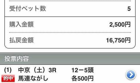 7月23日マーベラス 16,750円