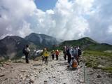 杓子岳と鑓ヶ岳