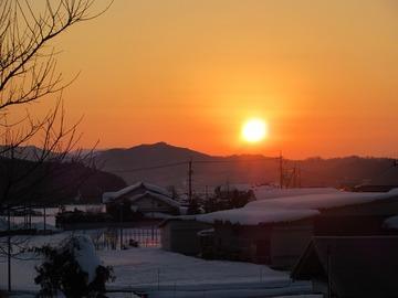 2月16日オレンジ色