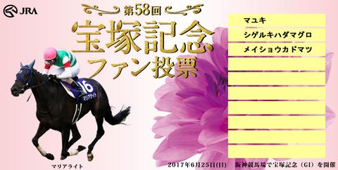 宝塚記念ファン投票2017