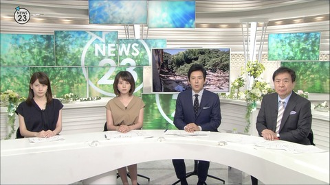 皆川玲奈 NEWS23 18/07/12