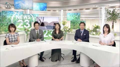皆川玲奈 NEWS23 18/07/18