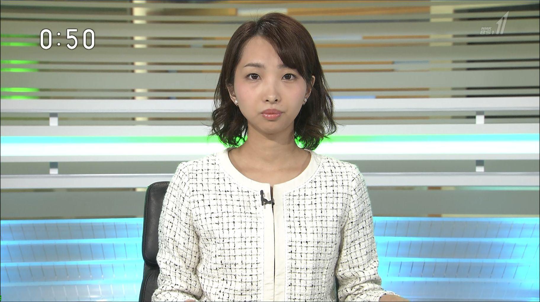山住悠アナ(NHK・BSニュース)の胸のカップ画像が …