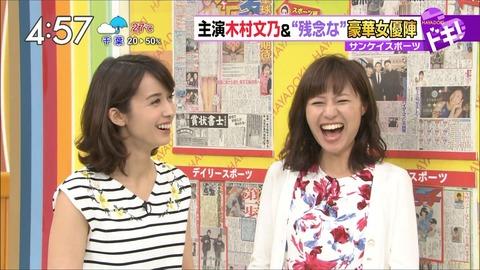 大笑いの伊東楓アナ!