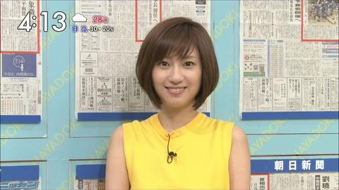 小顔の伊東楓アナ