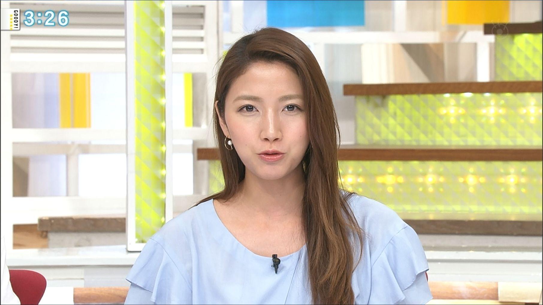 長髪の三田友梨佳