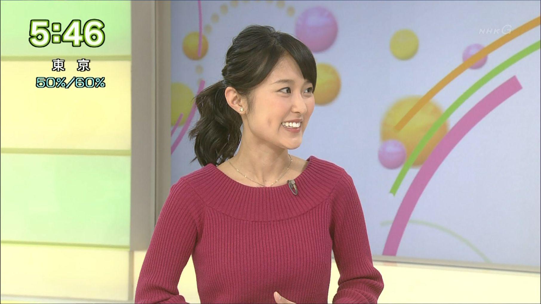 近江友里恵アナウンサーの紫系