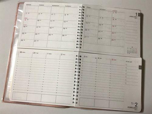 週間・月間ページが一度に見れる!『学研ステイフル ツイン手帳 2017』を買ってみた!