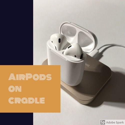 iPhone充電スタンドAirPods乗せるイメージ