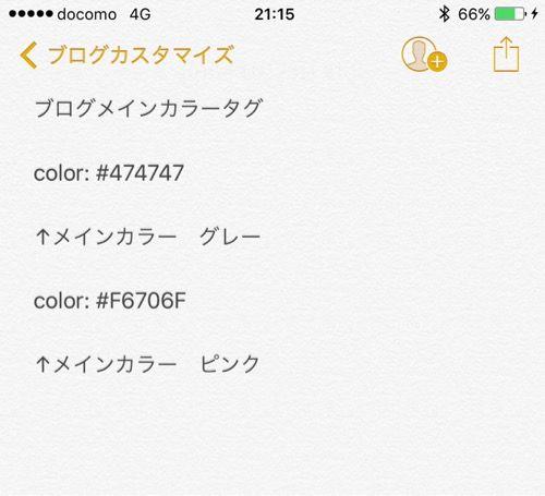 ブログカスタマイズの手順メモ2