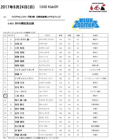 vs日野自動車メンバー表