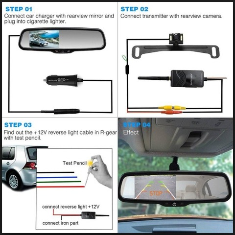 how to wire a backup camera to the reverse light