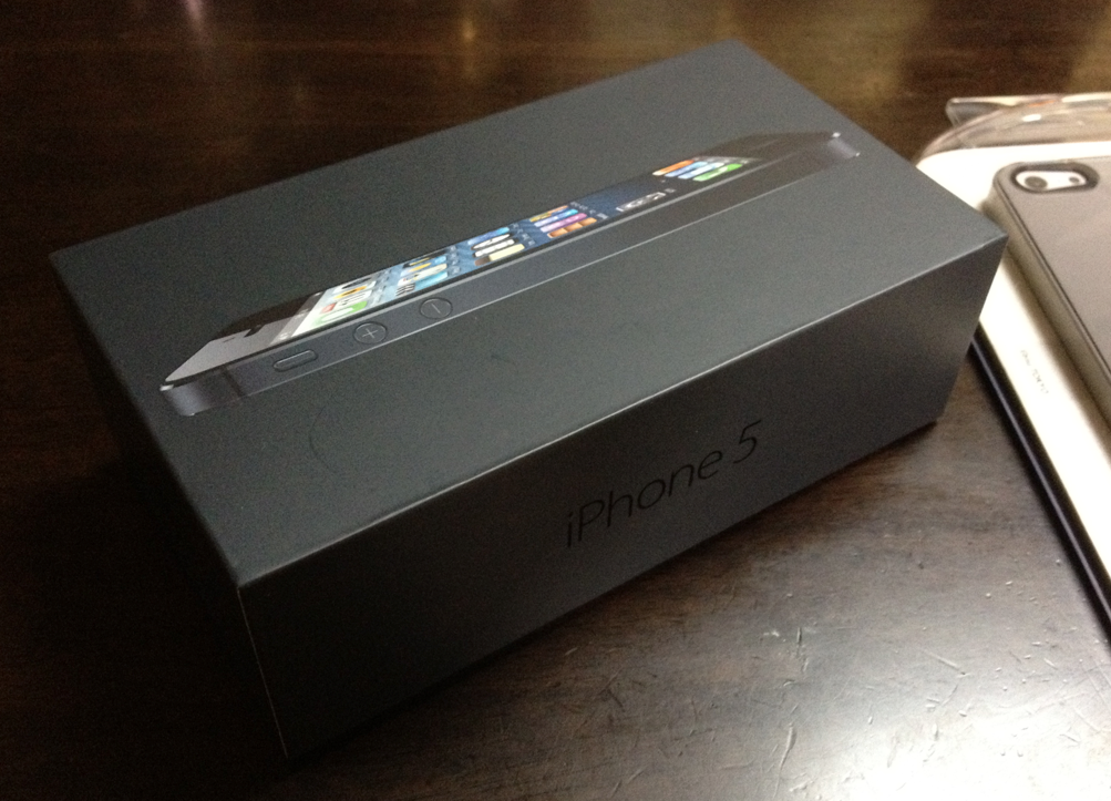 iPhone 5 Black and Straight Box