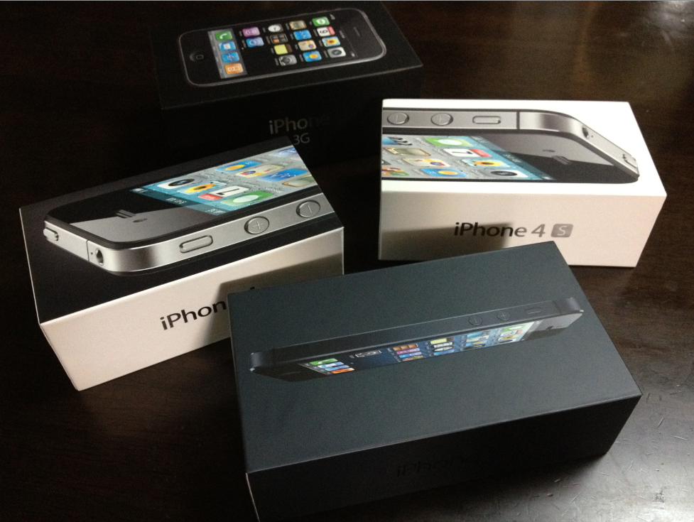 iPhone 3G 4 4S 5 boxes