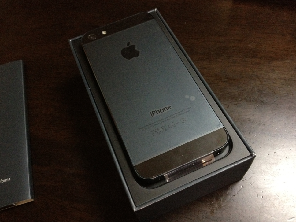 iPhone 5 backside