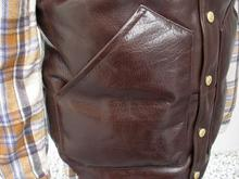 ALL LEATHER DOWN VEST