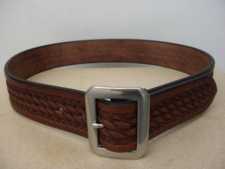 Leather Carving Single Pin Belt